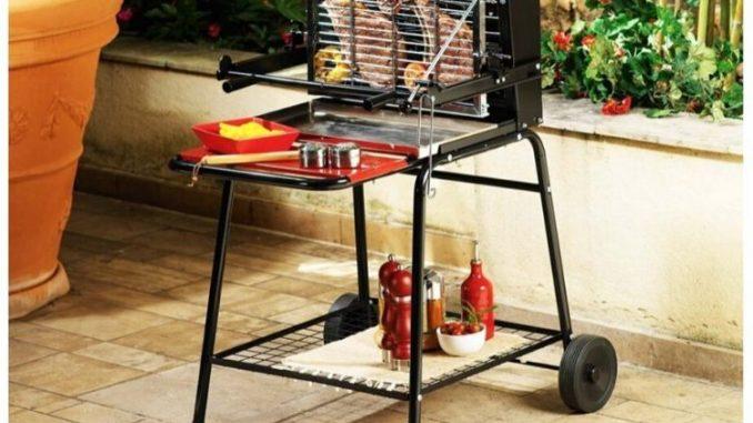 barbecue à cuisson verticale